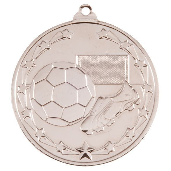 Starboot Economy Football Medal Silver 50mm