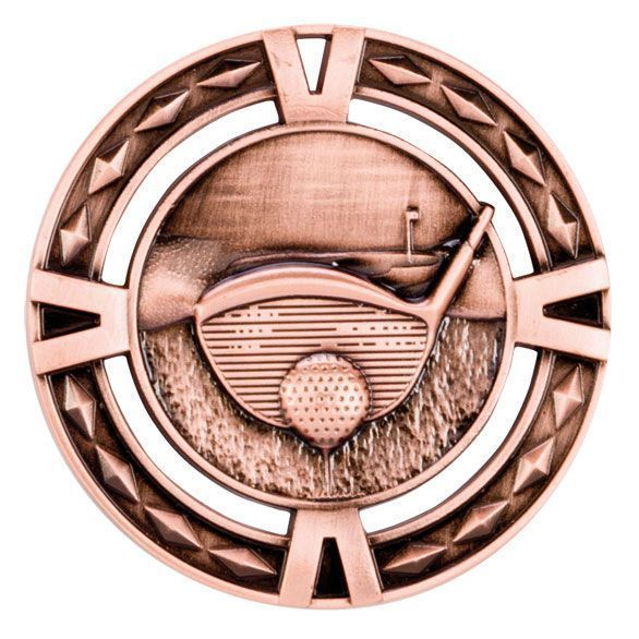 V-Tech Golf Medal Bronze 60mm