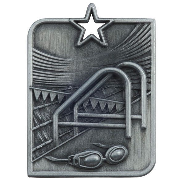Centurion Star Series Swimming Medal Silver 53x40mm