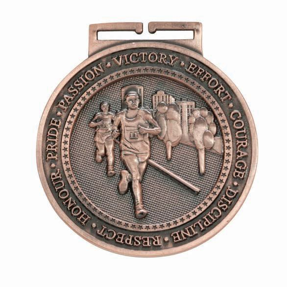 Olympia Running Medal Antique Bronze 60mm