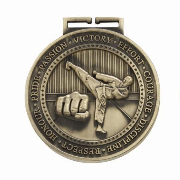 Olympia Karate Medal Antique Gold 70mm