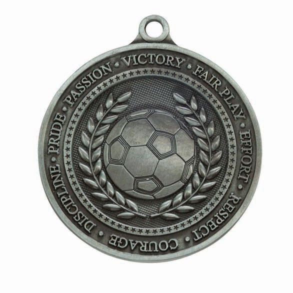 Olympia Football Medal Antique Silver 60mm
