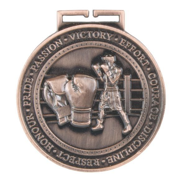 Olympia Boxing Medal Antique Bronze 70mm