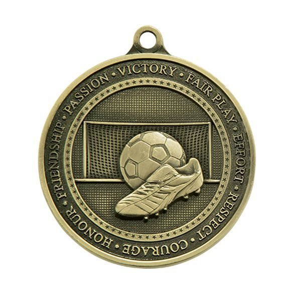Olympia Football Medal Antique Gold 70mm