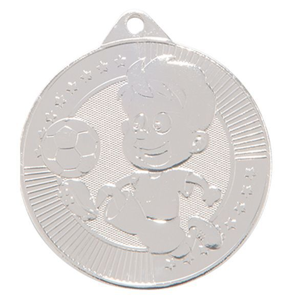 Little Champion Football Medal Silver 45mm