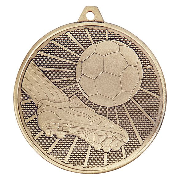 Formation Football Iron Medal Antique Gold 50mm