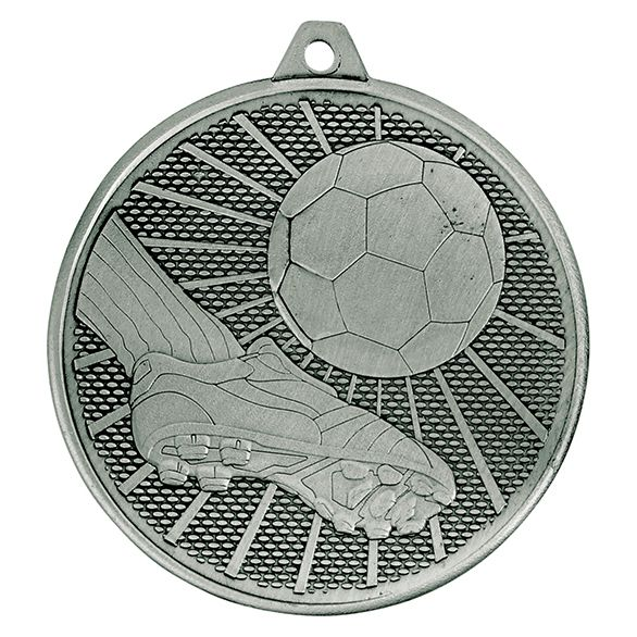 Formation Football Iron Medal Antique Silver 50mm