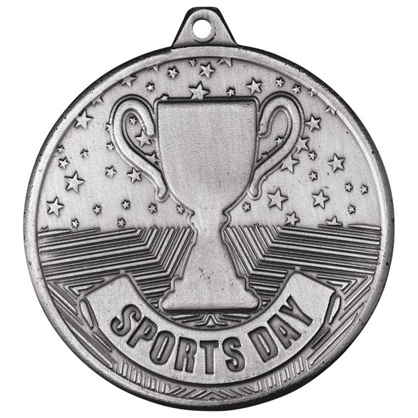 Cascade Sports Day Iron Medal Antique Silver 50mm