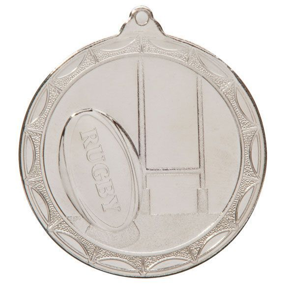 Cascade Rugby Medal Silver 50mm