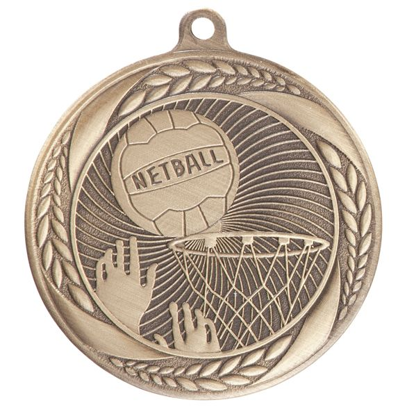 Typhoon Netball Medal Gold 55mm