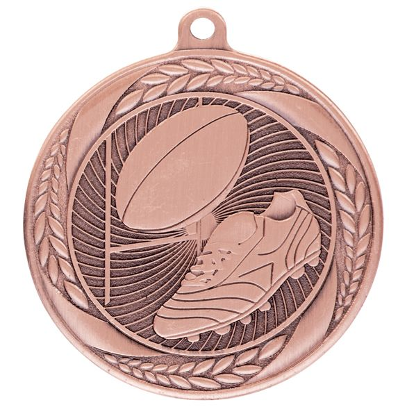 Typhoon Rugby Medal Bronze 55mm