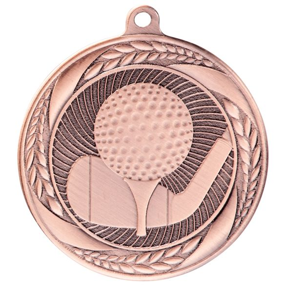 Typhoon Golf Medal Bronze 55mm