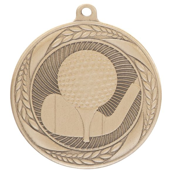 Typhoon Golf Medal Gold 55mm
