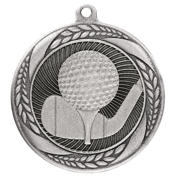 Typhoon Golf Medal Silver 55mm