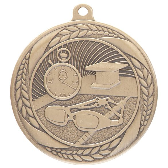Typhoon Swimming Medal Gold 55mm