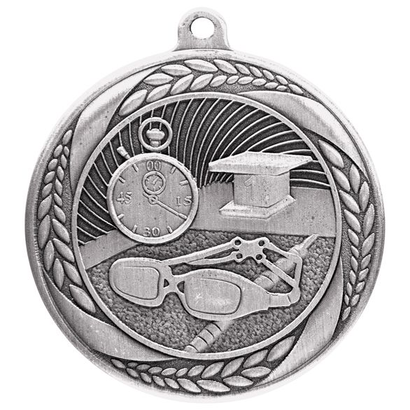 Typhoon Swimming Medal Silver 55mm