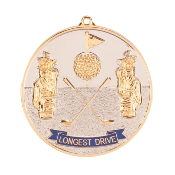 Prestige Longest Drive Golf Medal 70mm