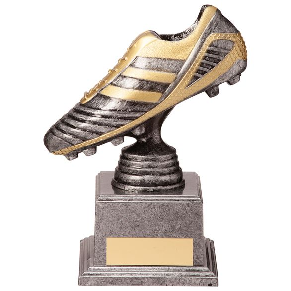 World Striker Legend Football Boot Silver & Gold 155mm