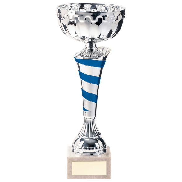 Eternity Cup Silver & Blue 300mm